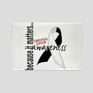 Carcinoid Cancer Awareness 1 Rectangle Magnet