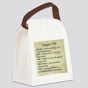 August 11th Canvas Lunch Bag