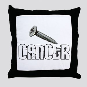 Screw Carcinoid Cancer 1C Throw Pillow