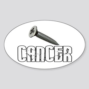 Screw Carcinoid Cancer 1C Sticker (Oval)