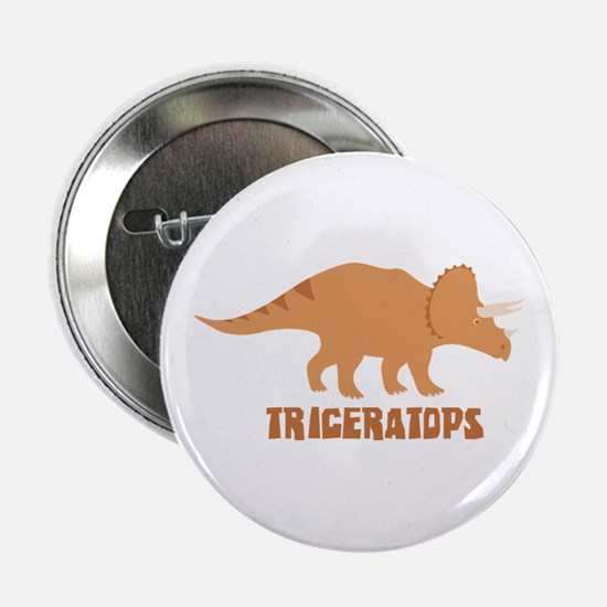 "Triceratops 2.25"" Button"