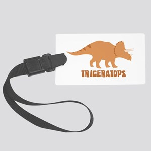 Triceratops Luggage Tag