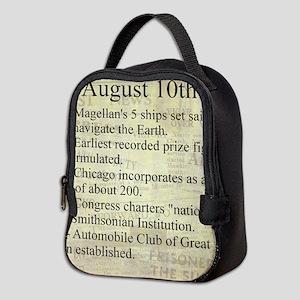 August 10th Neoprene Lunch Bag