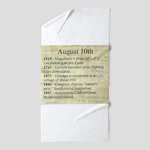 August 10th Beach Towel