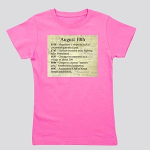 August 10th Girl's Tee