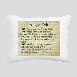 August 9th Rectangular Canvas Pillow