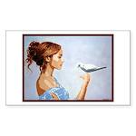 Dove Sticker (Rectangle)