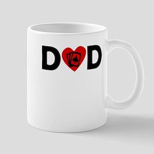Poker Heart Dad Mugs