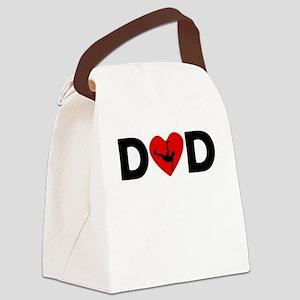 Dancing Heart Dad Canvas Lunch Bag