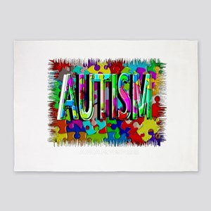 Autism Awareness 5'x7'Area Rug
