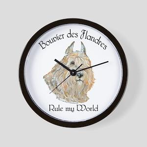 Bouvier des Flandres Wheaten Wall Clock