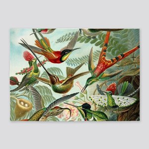 Beautiful Hummingbirds Art 5'x7'Area Rug