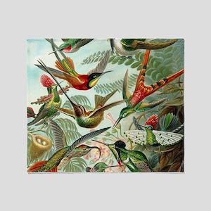Beautiful Hummingbirds Art Throw Blanket