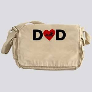 Swimming Heart Dad Messenger Bag