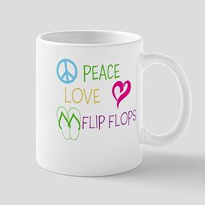 PEACE, LOVE, FLIP FLOPS Mugs