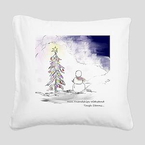 Best Friends Square Canvas Pillow