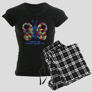Autism Butterfly Women's Dark Pajamas