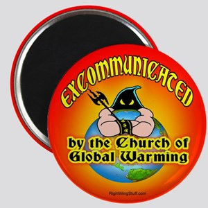 """Church of Global Warming 2.25"""" Magnet (10 pack)"""