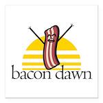 Bacon Dawn Square Car Magnet 3
