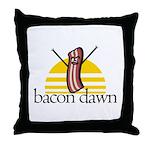 Bacon Dawn Throw Pillow