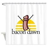 Bacon Dawn Shower Curtain
