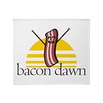 Bacon Dawn Throw Blanket