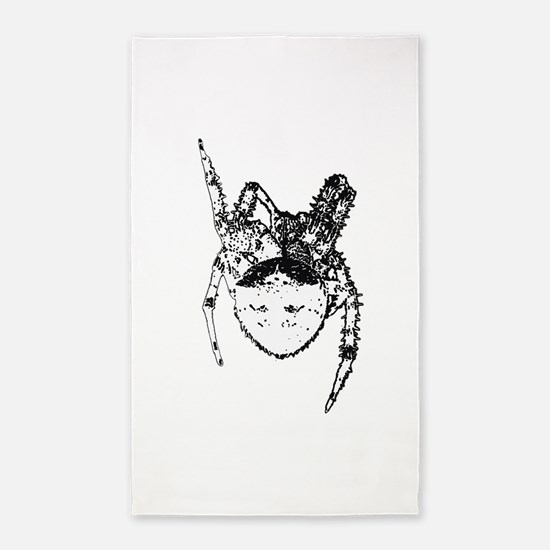 Cat face spider bw 3'x5' Area Rug