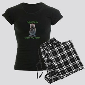 Squirrels Warm Hearts Women's Dark Pajamas