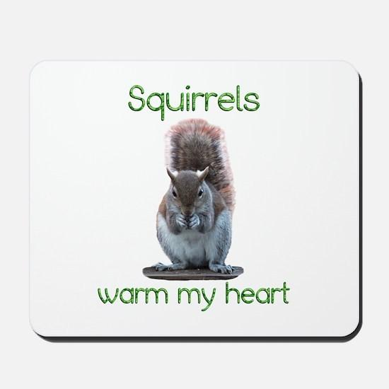 Squirrels Warm Hearts Mousepad