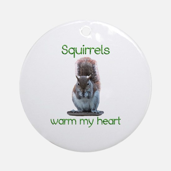 Squirrels Warm Hearts Ornament (Round)