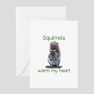 Squirrels Warm Hearts Greeting Card