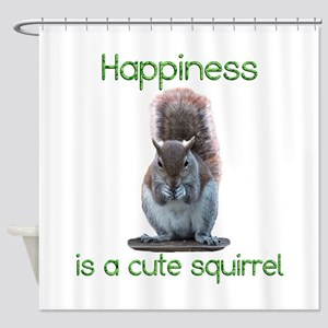 Squirrel Happiness Shower Curtain
