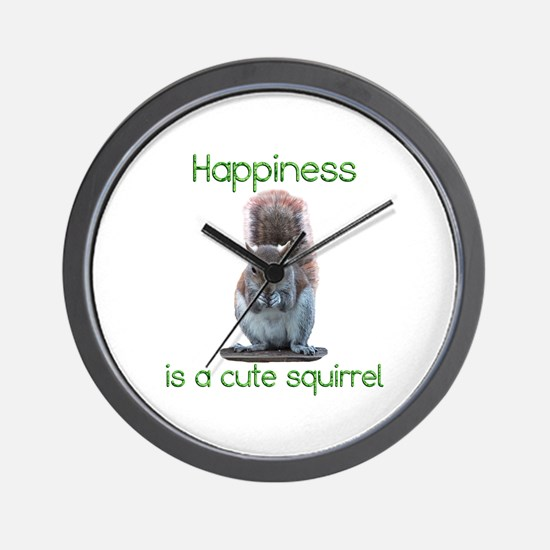 Squirrel Happiness Wall Clock