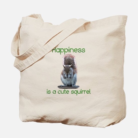 Squirrel Happiness Tote Bag