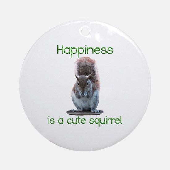 Squirrel Happiness Ornament (Round)