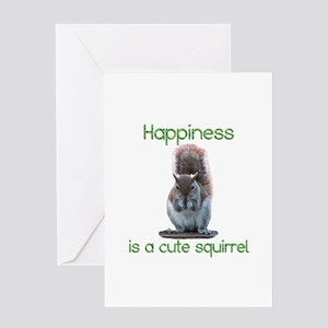 Squirrel Happiness Greeting Card