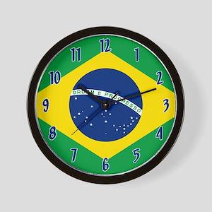 Flag Of Brazil Wall Clock
