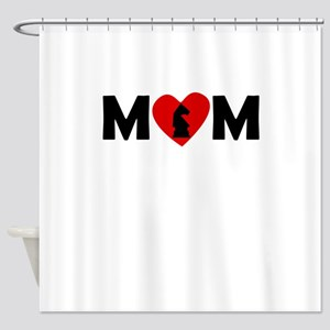 Chess Heart Mom Shower Curtain