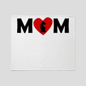 Chess Heart Mom Throw Blanket