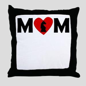 Chess Heart Mom Throw Pillow