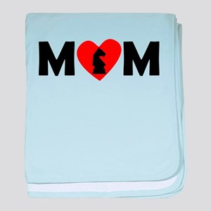 Chess Heart Mom baby blanket