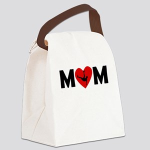 Dancing Heart Mom Canvas Lunch Bag
