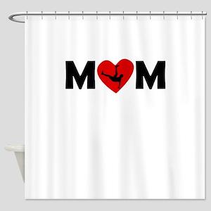 Dancing Heart Mom Shower Curtain