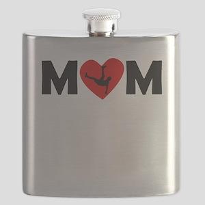 Dancing Heart Mom Flask
