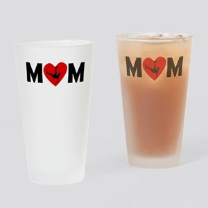 Dancing Heart Mom Drinking Glass