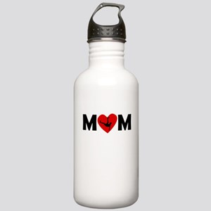 Dancing Heart Mom Water Bottle
