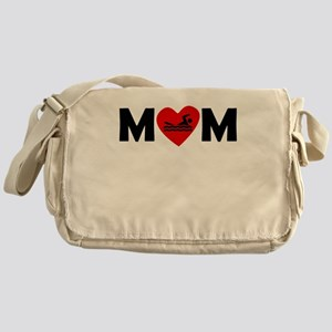 Swimming Heart Mom Messenger Bag