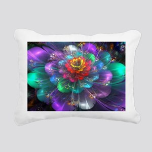 Color in Bloom Rectangular Canvas Pillow