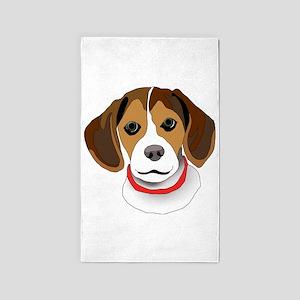 Beagle 3'x5' Area Rug