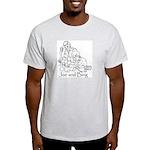 Joe and Bing Ash Grey T-Shirt